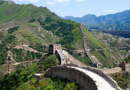 The Great wall of China in Simatai section photo