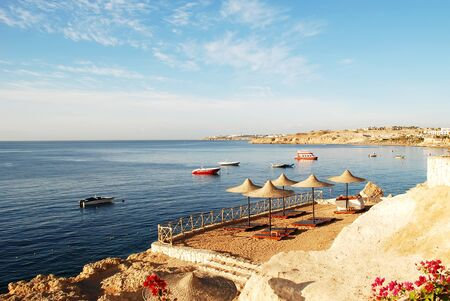 the Red Sea coast in the early morning, Egypt, Sharm al-sheikh