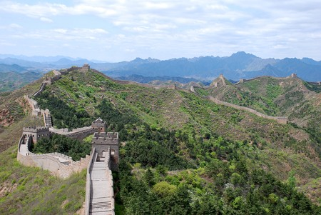 Great Wall of China in Simatai section in may2010