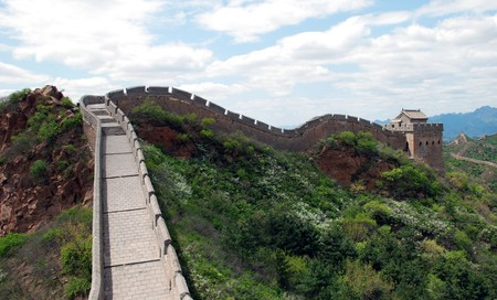 Great wall of China in Simatai section on may 2010