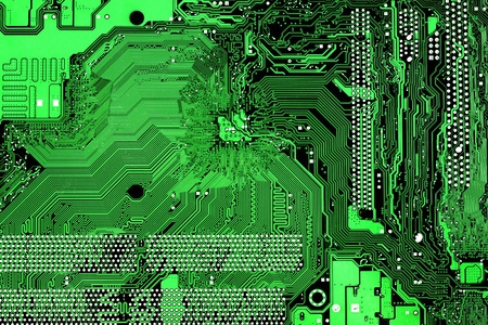 Abstract electronic industrial background with computer mother board