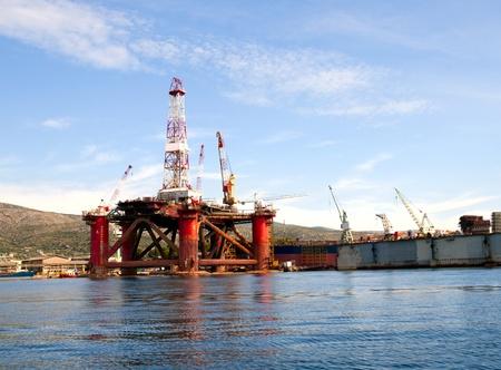 The platform of shipyard in Trogir Croatia
