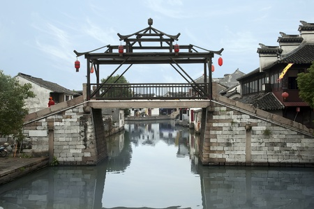 Ancient chinese  river village Tongli near Suzhou Editorial