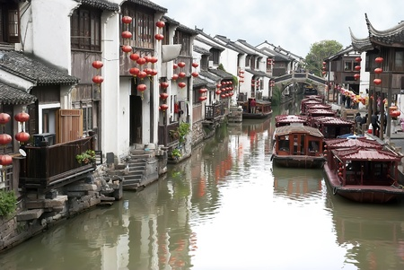 Ancient chinese traditional river street in Suzhou