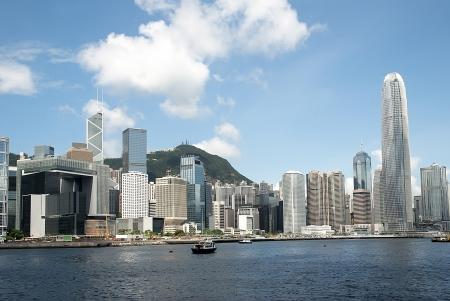 HONG KONG - July 12: Spectacular views of Hong Kong island from Victoria harbor on July 12, 2012.