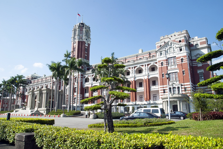 Taipei - October28: The Presidential Office Building on October 28, 2013 in Taipei, Taiwan. Here houses the Office of the President of the Republic of China Editorial
