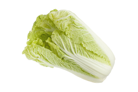 Green cabbage isolated on a white background Stock Photo