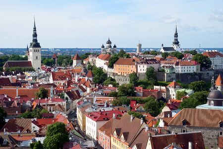 Nice aerial view of Tallin old city