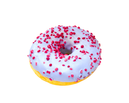 Bright colorful donut isolated on a white background Stock Photo