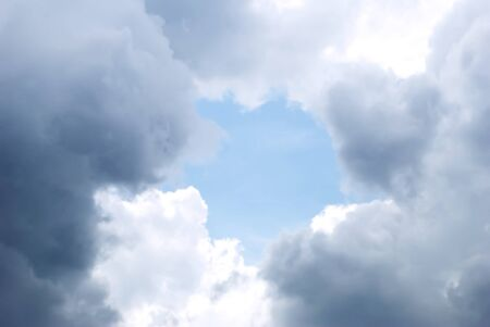 Background of a blue sky with clouds Stock Photo