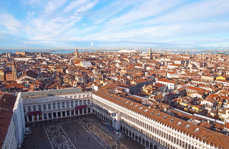Aerial view of Venice  in december 2017 Stock Photo
