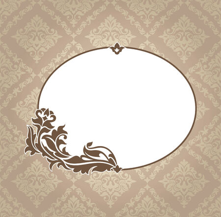 abstract vintage frame vector illustration Stock Vector - 9059664