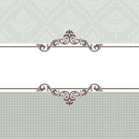 抽象的なビンテージ フレーム ベクトル イラスト  イラスト・ベクター素材