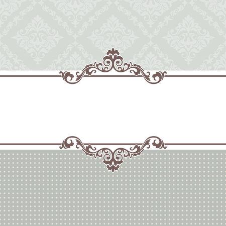 geburtstag rahmen: abstrakt Vintage Frame Vektor-illustration Illustration