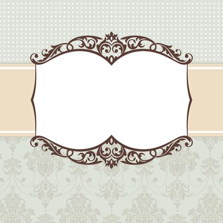 marco cumplea�os: Ilustraci�n de vector de marco cosecha abstracto