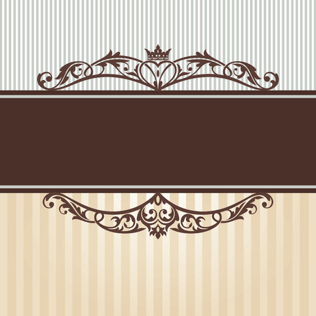 abstract vintage frame vector illustration Stock Vector - 9059678
