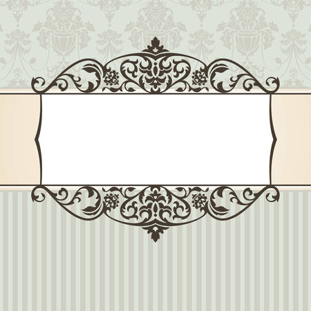abstract vintage frame illustration Vector