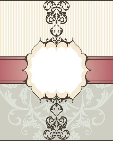 abstract vintage frame illustration Illustration