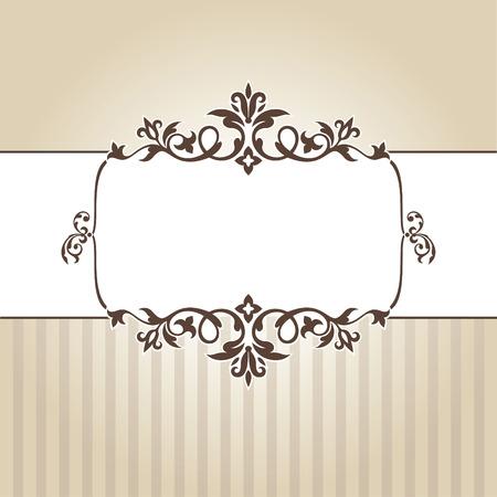 verjaardag frame: abstract vintage frame illustratie Stock Illustratie