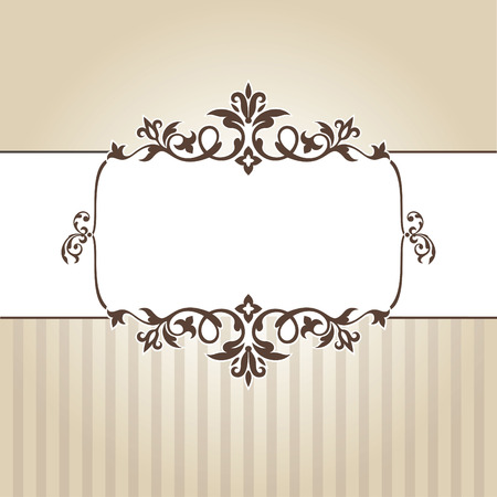 abstract vintage frame illustration Stock Vector - 9126091