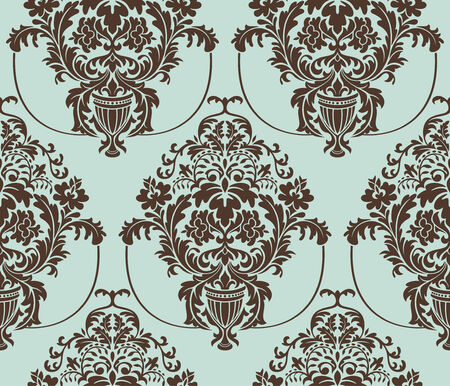 seamless damask wallpaper illustration Vector