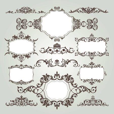 花の要素のベクトルを設定  イラスト・ベクター素材