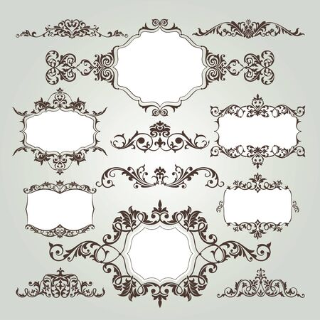 floral vector: vector set of floral elements