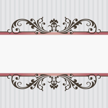vintage frame vector: abstract vintage frame vector illustration