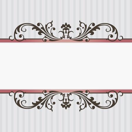 antique frames: Ilustraci�n de vector de marco cosecha abstracto