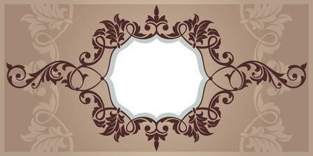 abstract vintage frame vector illustration Vector