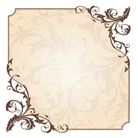 抽象的な花カード ベクトル イラスト