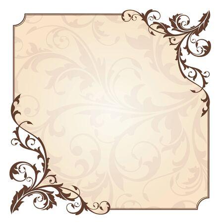 bordure floral: carte floral abstrait vector illustration