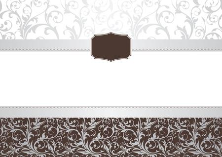 抽象的な招待フレーム ベクトル イラスト  イラスト・ベクター素材