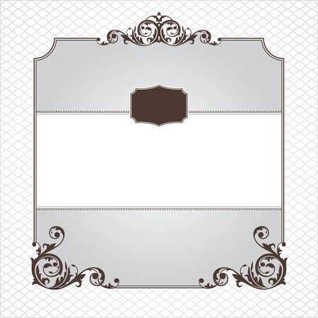 abstract ornamental frame vector illustration