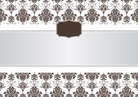 abstract invitation frame vector illustration Stock Vector - 9177562