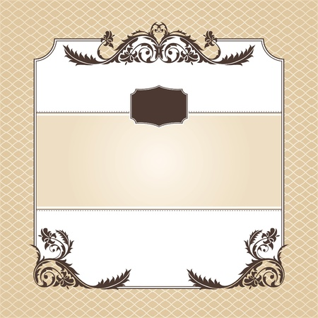 abstract ornamental frame vector illustration Vector