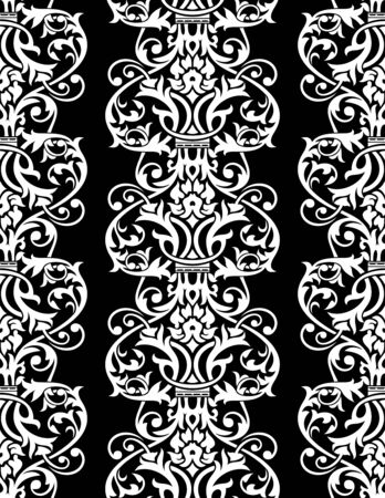 floral seamless wallpaper illustration Stock Vector - 9493029