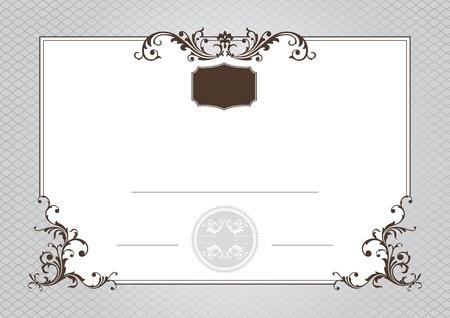certificate of achievement vector illustration Stock Vector - 12411562