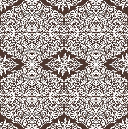 floral seamless wallpaper vector illustration Stock Vector - 13111087
