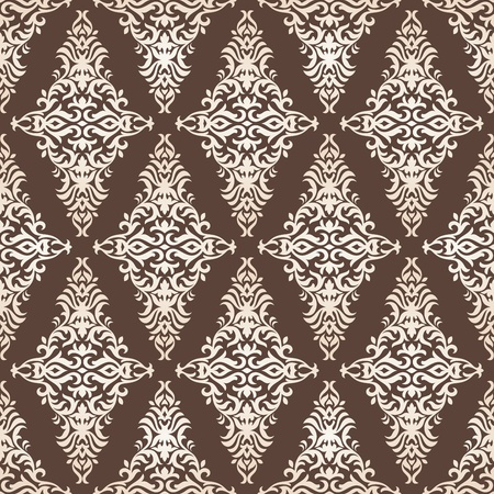 floral seamless wallpaper vector illustration Stock Vector - 13111079