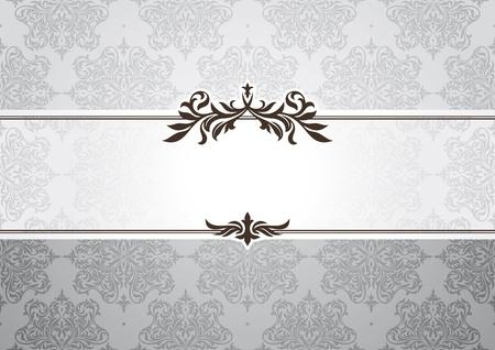 abstract invitation frame vector illustration
