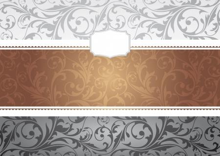 abstract invitation frame vector illustration Vector