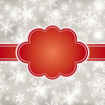 abstract christmas frame vector illustration