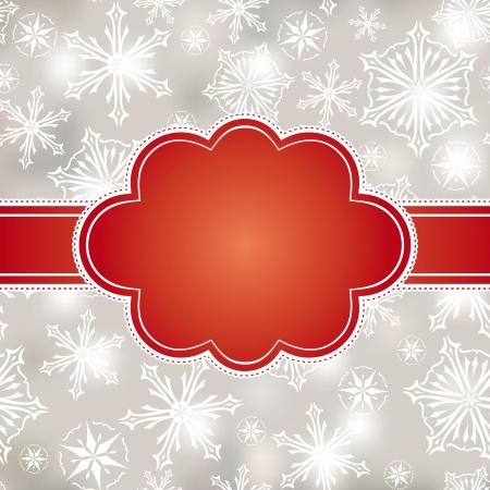 abstract christmas frame vector illustration Stock Vector - 15210169