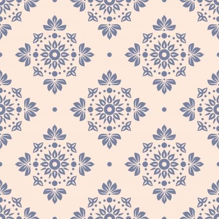 花のシームレスな壁紙ベクター イラスト