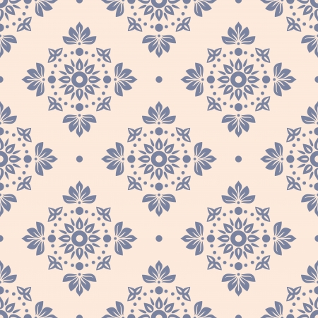 tile pattern: floral seamless wallpaper vector illustration Illustration
