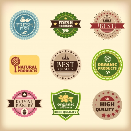 set of different retro labels  Stock Vector - 15168598