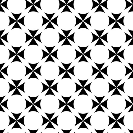 black silk: abstract seamless ornament pattern vector illustration Illustration