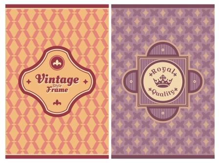 Invitation vintage retro cards vector illustration Illustration