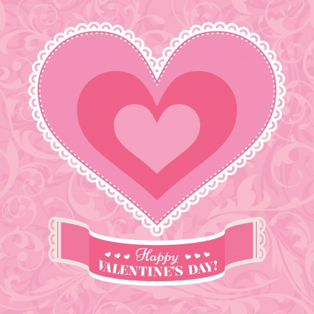 Abstract Valentines day card vector illustration